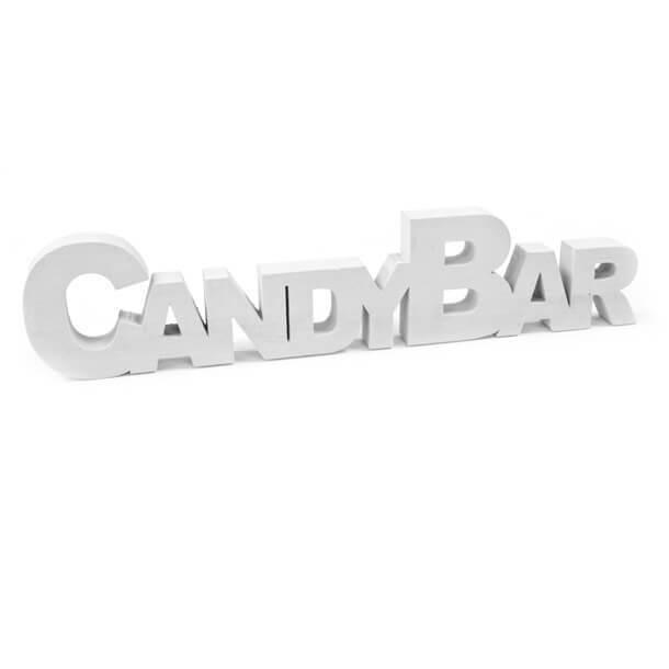 Lettre en bois candy bar blanche