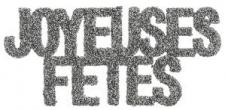Lettre joyeuses fêtes (x6) REF/4602