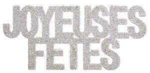 Lettre joyeuses fetes blanc