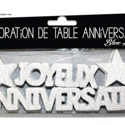 Lettre joyeux anniversaire étoile: Blanc Albâtre (x1) REF/DTA00BA