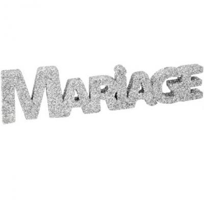 Lettre pailletée mariage argent (x1) REF/DEK0108