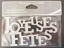 Lettre joyeuses fêtes (x1)