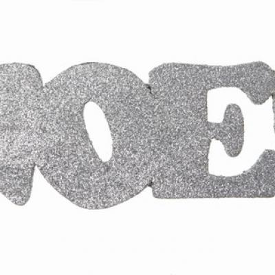 Lettre en bois de Noël argent (x1) REF/4276
