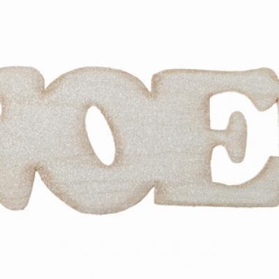 Lettre en bois de Noël naturel (x1) REF/4276