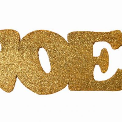 Lettre en bois de Noël or (x1) REF/4276