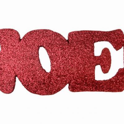 Lettre en bois de Noël rouge (x1) REF/4276