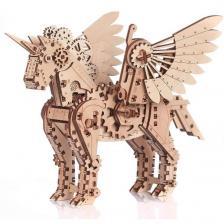 Puzzle 3D en bois Licorne en petit modèle et mobile (x1) REF/PWLIS