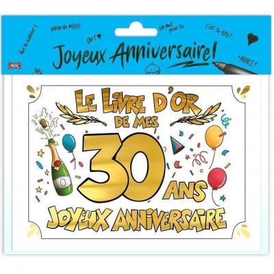 Livre d'or anniversaire 30ans or multicolore (x1) REF/LDOR03