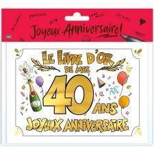 Livre d'or anniversaire 40ans or multicolore (x1) REF/LDOR04