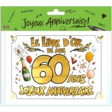 Livre d'or anniversaire 60ans or multicolore (x1) REF/LDOR06