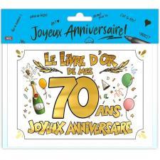 Livre d'or anniversaire 70ans or multicolore (x1) REF/LDOR10