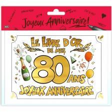 Livre d'or anniversaire 80ans or multicolore (x1) REF/LDOR11