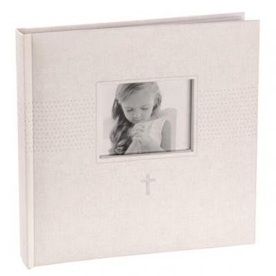 Livre d'or cérémonie blanc avec croix et photo (x1) REF/6621