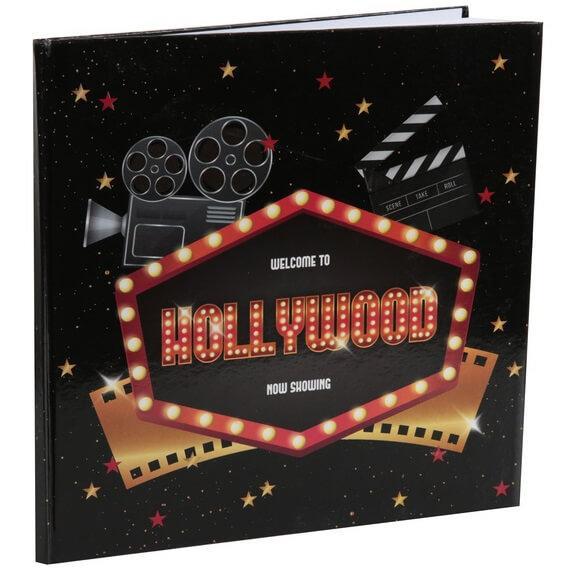Livre d or cinema noir et multicolore