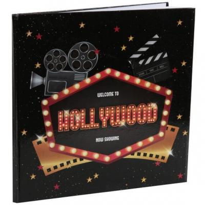 Livre d'or cinéma Hollywood en carton (x1) REF/6639