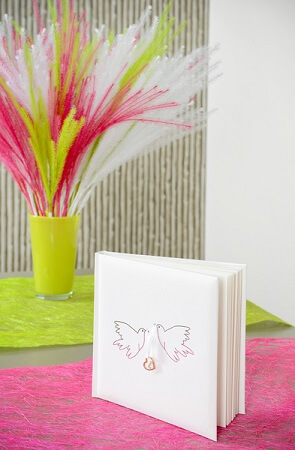 Livre d or colombe mariage
