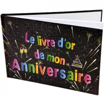 Livre d'or anniversaire noir (x1) REF/AA2015CH