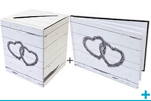 Livre d or et tirelire urne mariage st valentin