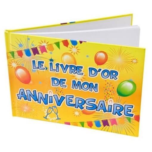 Livre d or fete joyeux anniversaire multicolore