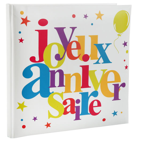 Livre d or joyeux anniversaire festif multicolore