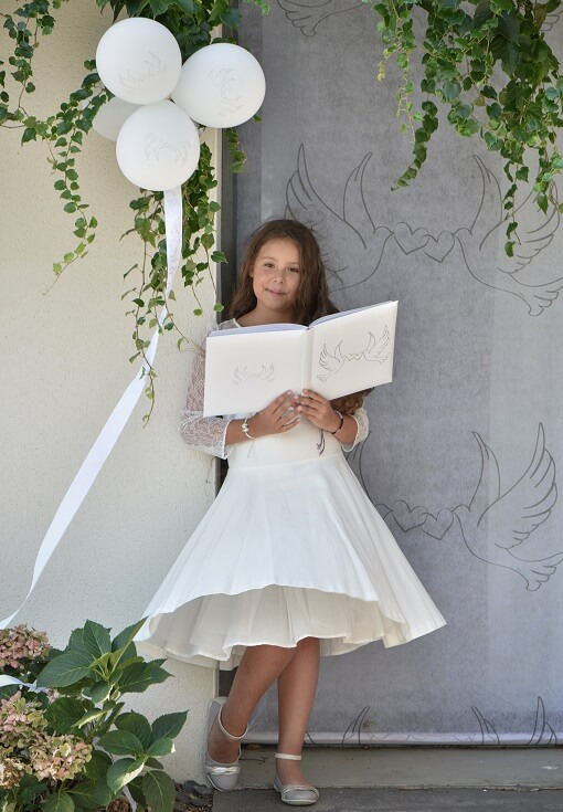 Livre d or mariage blanc colombes