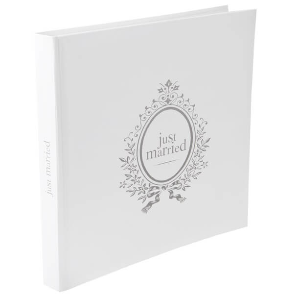 Livre d or mariage blanc just married