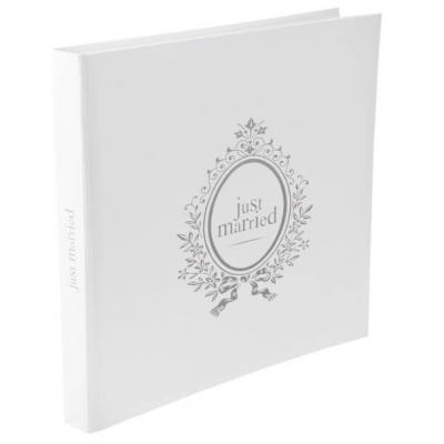 Livre d'or mariage blanc: Just Married (x1) REF/3845