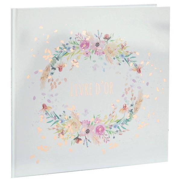 Livre d or mariage fleuri champetre