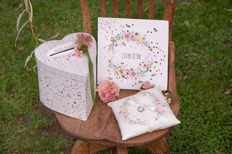 Livre d or mariage floral champetre