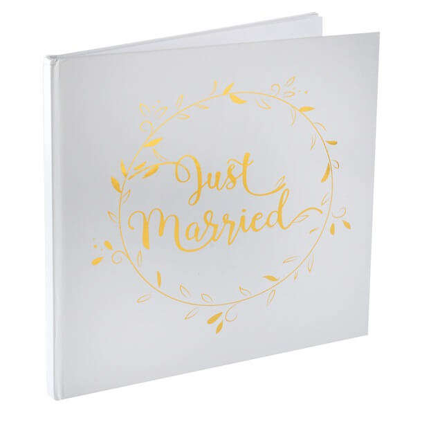 Livre D Or Mariage Just Married Blanc Et Or X1 Ref 6325