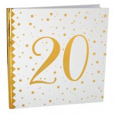 Livre d'or anniversaire blanc et or 20ans (x1) REF/6185