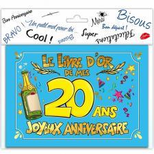 Livre d'or anniversaire 20ans (x1) REF/LDOR02