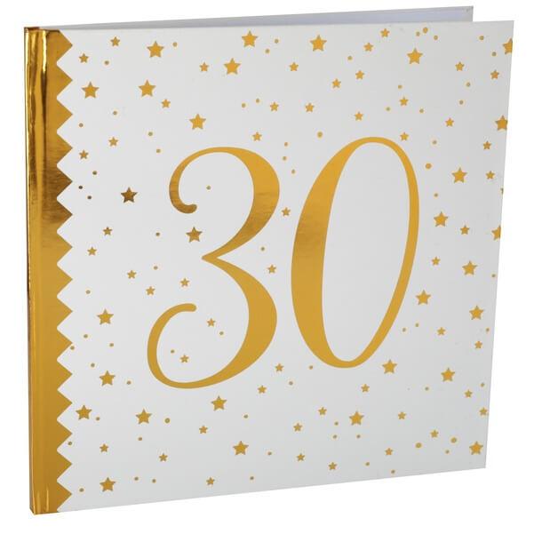 Livre dor anniversaire 30ans blanc et or