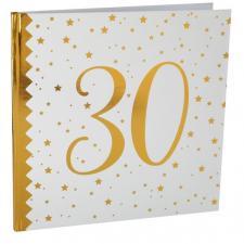 Livre d'or anniversaire blanc et or 30ans (x1) REF/6185