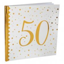 Livre d'or anniversaire blanc et or 50ans (x1) REF/6185