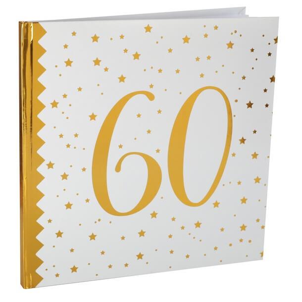 Livre dor anniversaire 60ans blanc et or