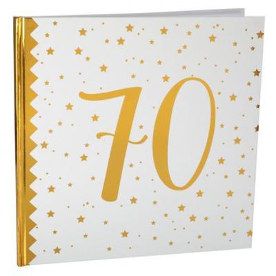 Livre d'or anniversaire blanc et or 70ans (x1) REF/6185