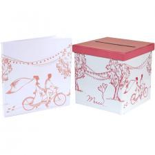 1 Pack urne et livre d'or mariage guinguette REF/6280-6281