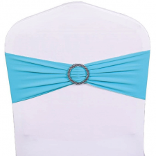 Location noeud bandeau bleu turquoise avec anneau pour votre housse de chaise (x1) REF/EV-474