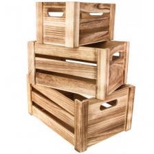 Location cagette élégante en bois pour votre décoration de fête (x1) REF/EV-357
