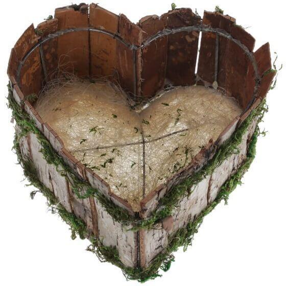 Location centre de table mariage panier coeur champetre nord pas de calais