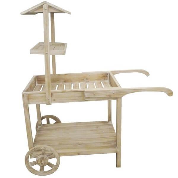 Location chariot en bois candy bar