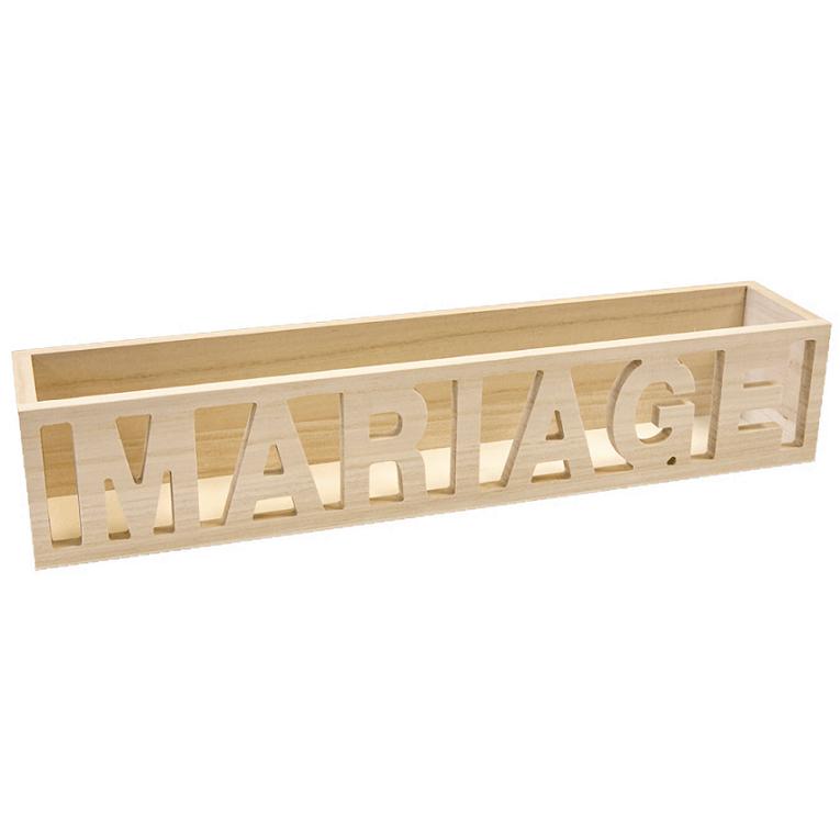 Location contenant presentoir dragees mariage en bois