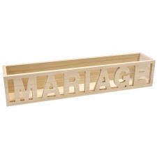 Location d'un présentoir mariage élégant en bois pour vos décorations. (x1) REF/EV-323
