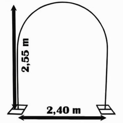 REF/EV-307 / Location d'une arche à ballons métallique professionnel (x1)