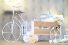 Location d'un présentoir vélo avec sa remorque pour votre fête. REF/EV-342