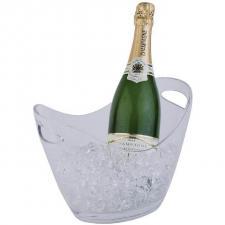 Location d'un seau à champagne transparent en PVC pour votre réception (x1) REF/EV-346