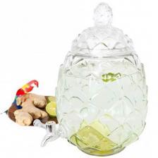 Location contenant limonadier transparent ananas en verre de 6 litres (x1) REF/EV-386