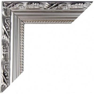 REF/EV-339 / Location d'un cadre photo argent en bois pour décoration photobooth (x1)