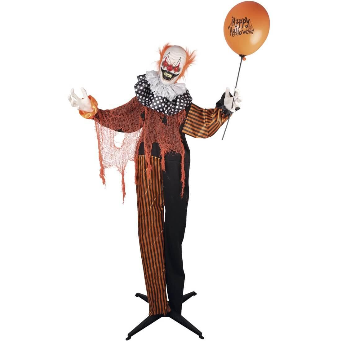 Location decoration halloween clown lumineux sonore et anime